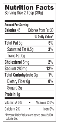 bolthouse farms ranch dressing nutrition facts
